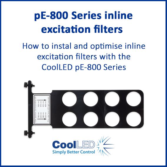 pE 800 Series inline excitation filters
